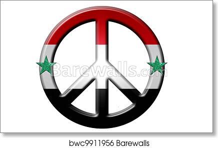Art Print Of Syrian Peace Symbol Barewalls Posters Prints