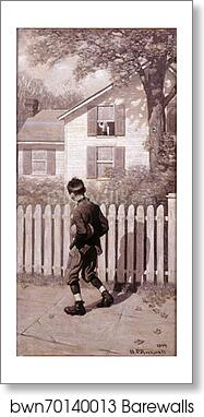 The Magic Foot-ball, 'Tommy appeared at an upstairs window.' (