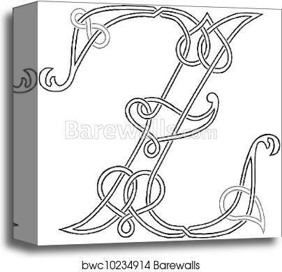 Letter Z Pictures.Celtic Letter Z Canvas Print