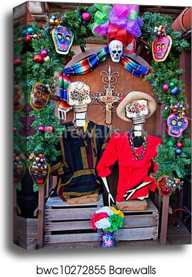 canvas print of mexican christmas dead decorations old san diego town california barewalls posters prints bwc10272855