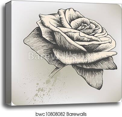 Gicl\u00e9e Fine Art Print Sepia Rose Sepia Floral Wall Art Sepia Rose Print Yellow Rose Antique Style Sepia Rose Rose