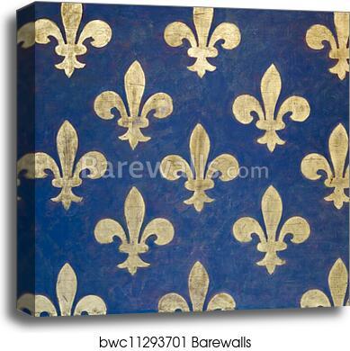 Fleur De Lis Wallpaper Canvas Print