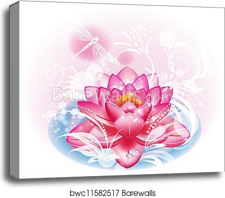 Canvas print of lotus flower barewalls posters prints bwc11582517 canvas print of lotus flower mightylinksfo