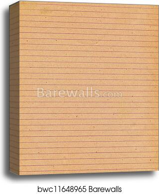 Old Lined Paper Background Canvas Print