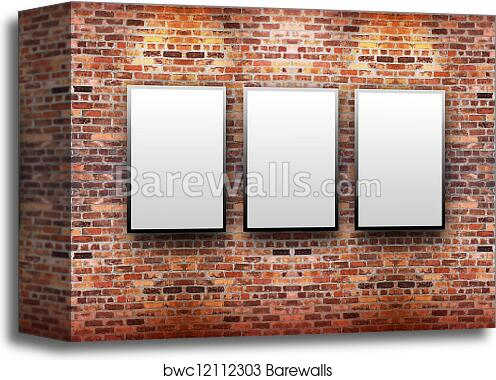Canvas Print Of Brick Display Art Gallery With Frames