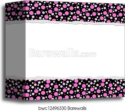 canvas print of pink polka dot background for your message or