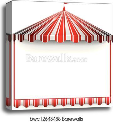 Canvas Print of Carnivals tent frame | Barewalls Posters & Prints ...