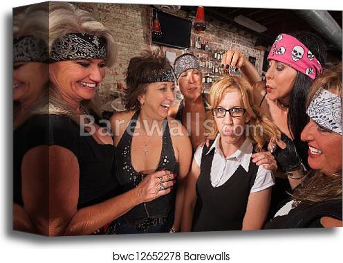 women teasing women