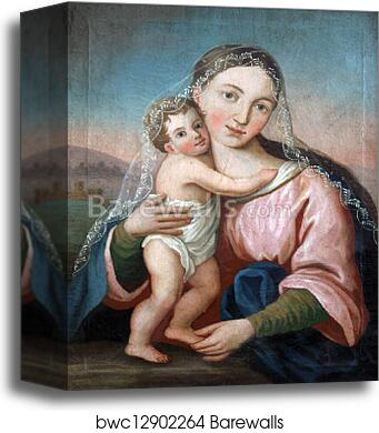 canvas print of blessed virgin mary with baby jesus barewalls