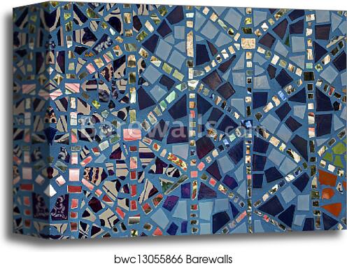 Canvas Print of Wall decoration of ceramic tiles | Barewalls Posters ...
