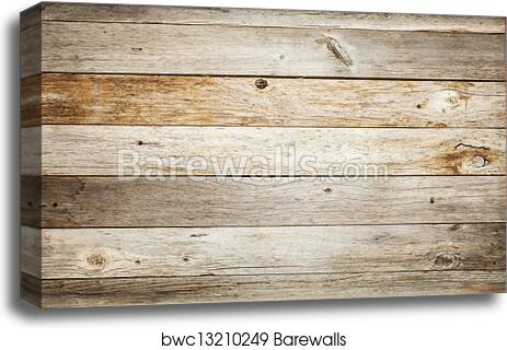 Canvas Print Of Rustic Barn Wood Background