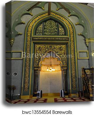 Mihrab Sultan mosque Singapore, Canvas Print | Barewalls