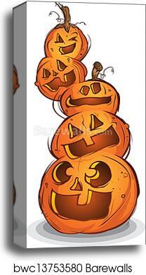 Pile Of Carved Halloween Pumpkins Canvas Print Barewalls