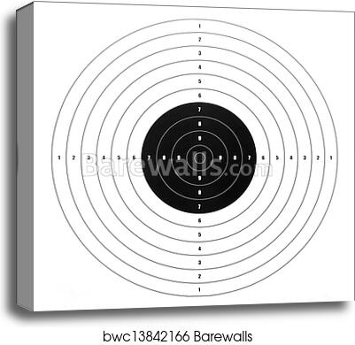 Canvas print of paper shooting target