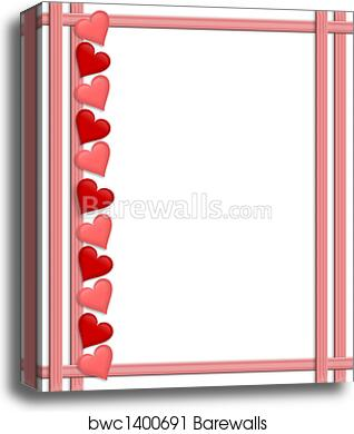Canvas Print Of Valentines Day Hearts Border Barewalls Posters