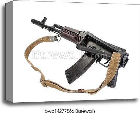 Kalashnikov rifle aks 74 canvas print
