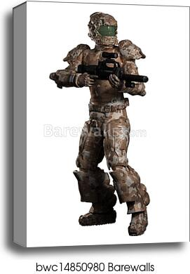 Space Marine Trooper in Camouflage canvas print