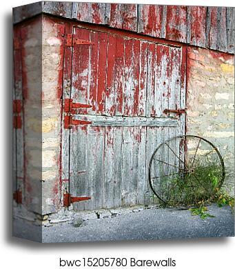 Canvas Print Of Rustic Old Barn Door
