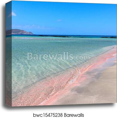 Elafonisi Pink Beach Canvas Print