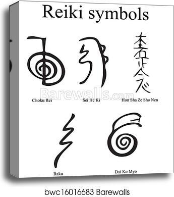 Canvas Print Of Reiki Symbols Barewalls Posters Prints Bwc16016683
