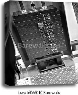 Gym Exercise Equipment - Weight Selector canvas print
