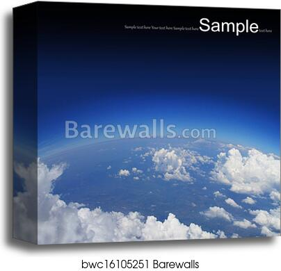 Curvature of the Earth, aerial shot canvas print