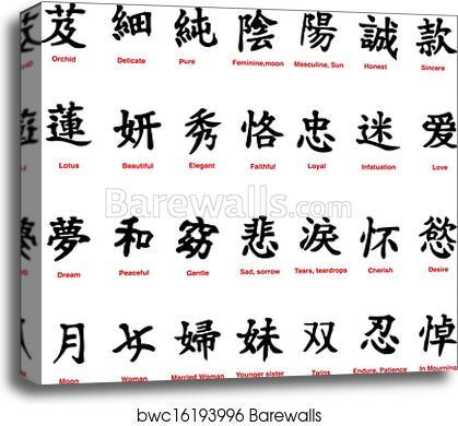 Canvas Print Of Chinese Symbols Barewalls Posters Prints