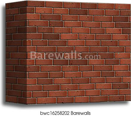 Dark Red Brick Wall Seamless Tileable Texture Canvas Print Barewalls Posters Prints Bwc16258202