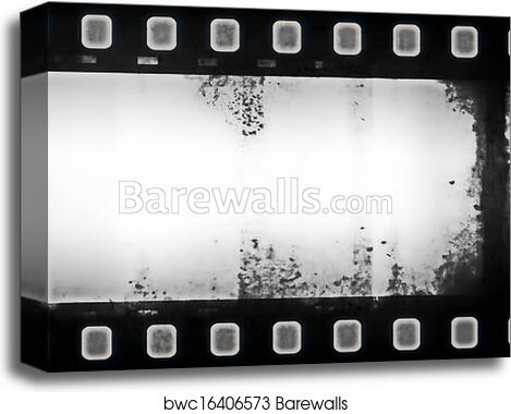 Film roll background and texture canvas print