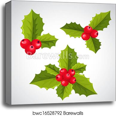 Canvas Print Of Christmas Holly Decorations Barewalls Posters