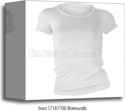 Womens Blank White T Shirt Template Canvas Print