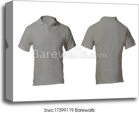 3d7d4bafca1 ... Men s Blank Grey Polo Shirt Template Canvas Print Barewalls