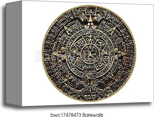 Canvas Print Of Mayan Calendar Barewalls Posters Prints