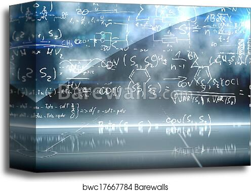 Canvas Print of Math equation background | Barewalls Posters ...