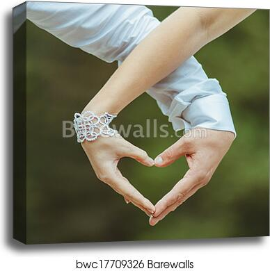 Man woman making love canvas Man And Woman Holding By Hands And Making Love Heart Canvas Print Barewalls Posters Prints Bwc17709326