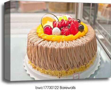 Birthday Cakes Pastries Design Canvas Print