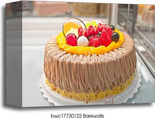 Canvas Print Of Birthday Cakes Pastries Design