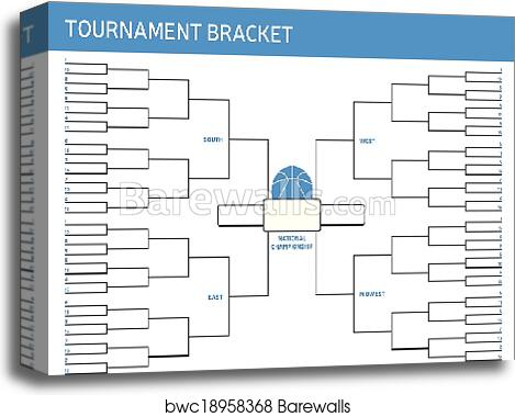Tournament Bracket canvas print