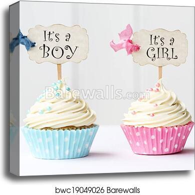 Verwonderlijk Baby shower cupcakes, Canvas Print | Barewalls Posters & Prints JK-61