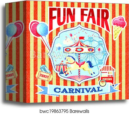 canvas print of vintage carnival poster template barewalls posters