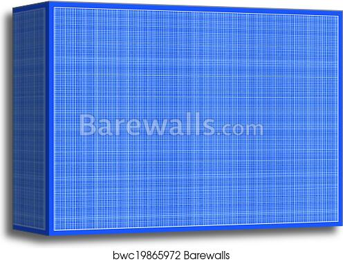 canvas print of vector millimeter paper a3 size barewalls posters