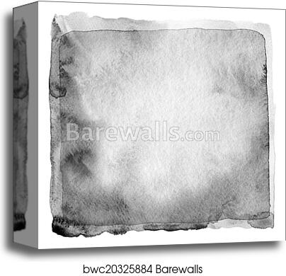 Abstract Black And White Watercolor Painted Background Paper Te Canvas Print