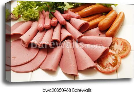 "Poster 24/"" x 16/"" Meat Sausage Ham"