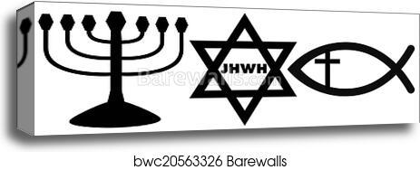 Canvas Print Of Religious Symbols Barewalls Posters Prints