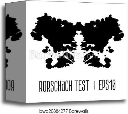 Rorschach Inkblot Test Illustration Canvas Print Barewalls Posters Prints Bwc20884277