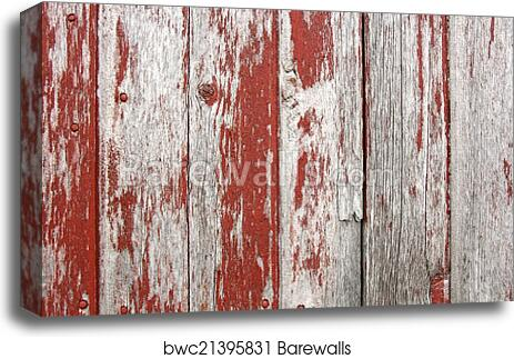 Red Brick Wood Photo Poster Canvas Art Picture Frame Rustic Distressed Barnwood