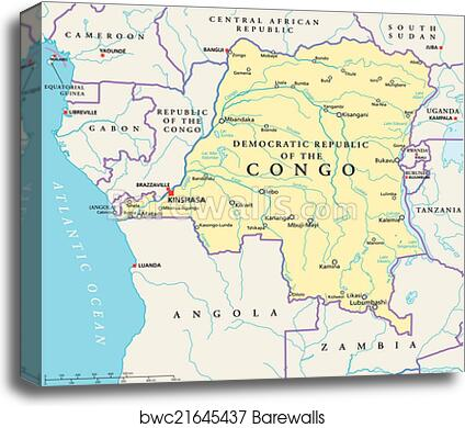 Democratic Republic Congo Map on