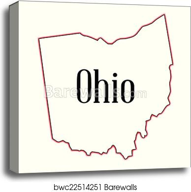 Outline Map Of Ohio.Ohio Canvas Print Barewalls Posters Prints Bwc22514251
