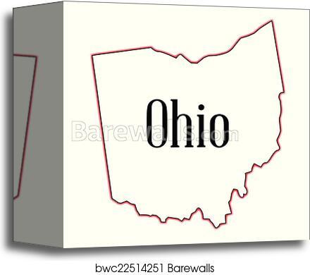 Outline Map Of Ohio.Ohio Canvas Print Barewalls Posters Prints Bwc22514251