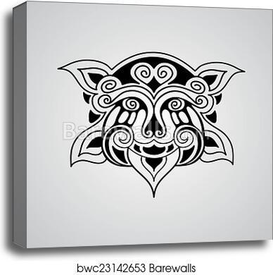 Vector Lion Tattoo Sketch Canvas Print